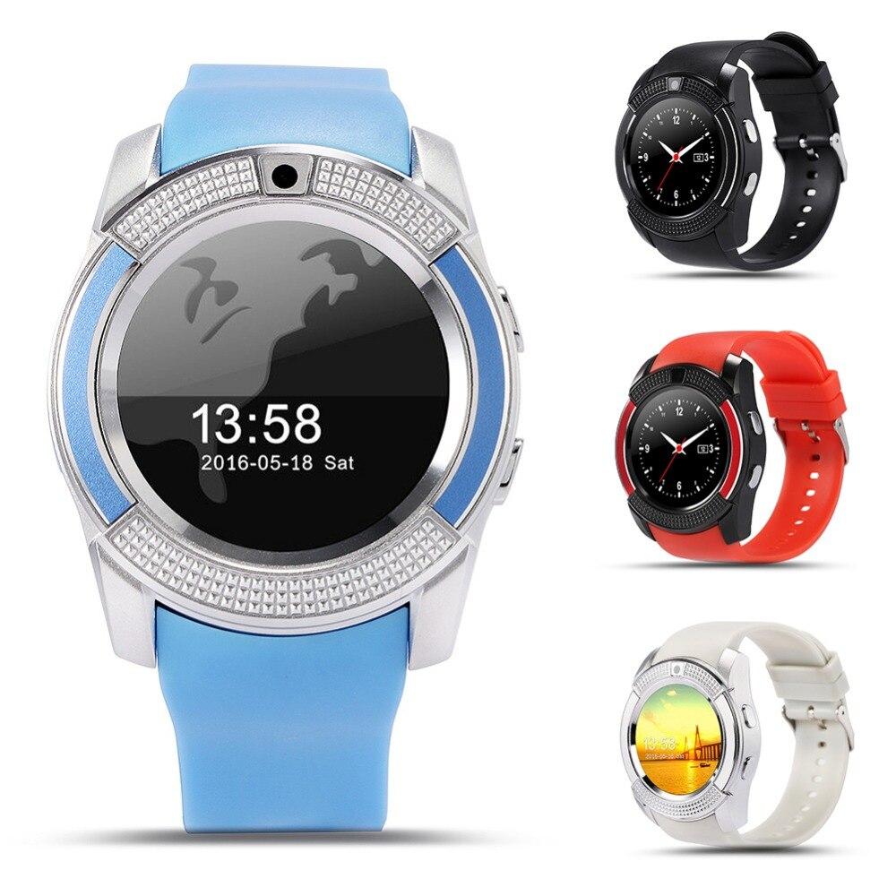 V8 Sport Smart Uhr Anti-verloren Smartwatch Unterstützung SIM TF Karte Uhr Kamera Anruf Schritt Zählen Schlaf Erinnern Für android Telefon PK Y1
