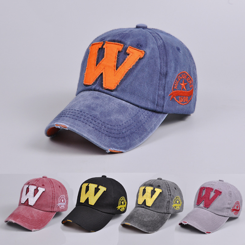 And Winter 1 pcs Fitted Hats Baseball Cap Old Letter W Snapback Autumn