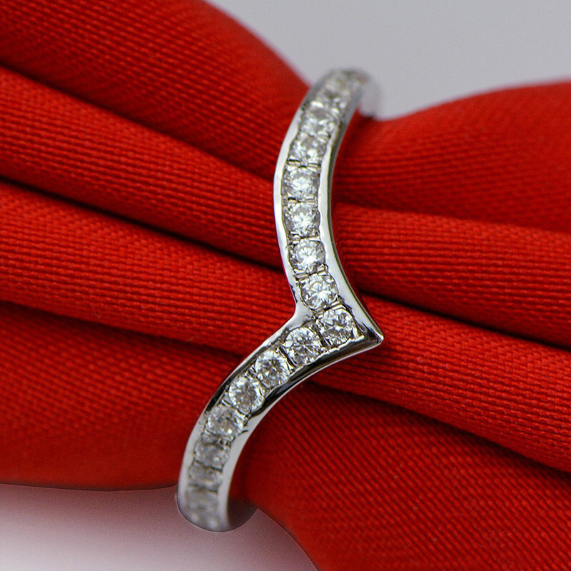 14 Pieces 0 2ct AAAAA Zircon Sona Cz Rings for Women Wedding Ring 925 Sterling Silver White Gold Color High Quality Jewelry in Wedding Bands from Jewelry Accessories