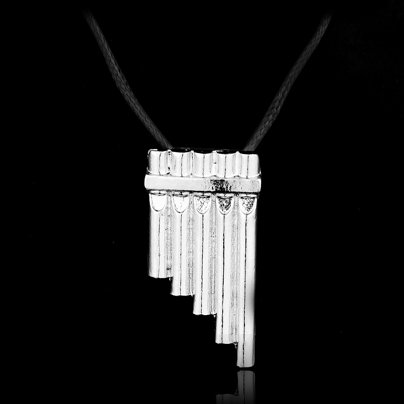 MQCHUN Fashion Jewelry Silver Charm Necklaces Peter Pan Magic Flute Pendant Necklace For Men And Women Jewelry -30