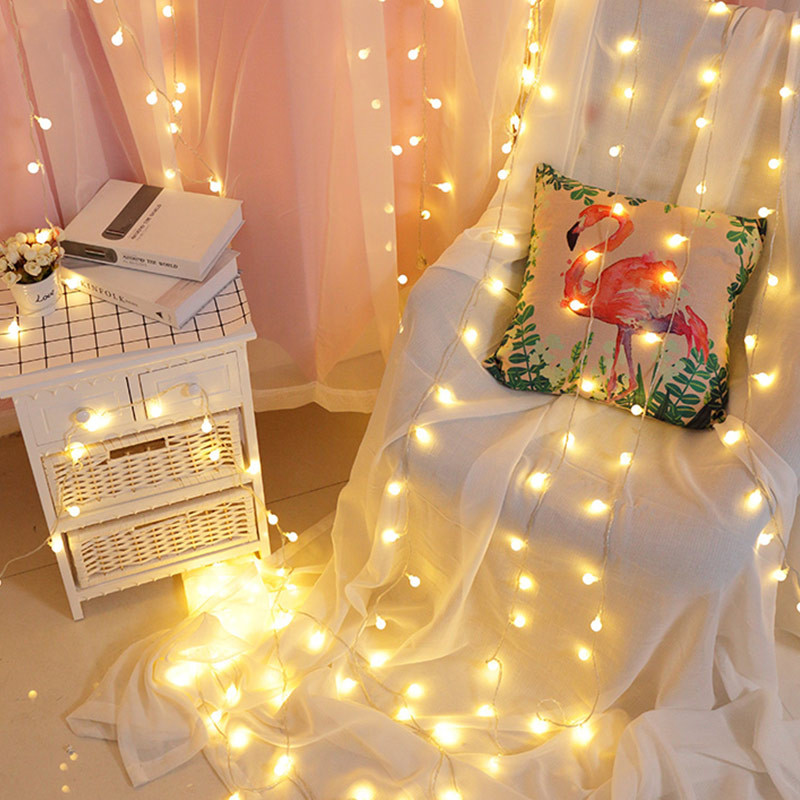 10M 100LED Fairy Garland String Lights Bulb Starry Fairy Lights String Decorative For Holiday Wedding Party Decoration in Holiday Lighting from Lights Lighting