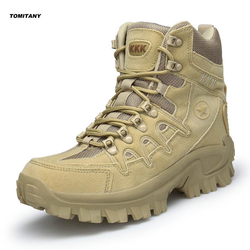Outdoor Sports Tactical Men Boots Hiking Shoes for Mountain Shoes for Camping Climbing Imported Leather Winter Boots