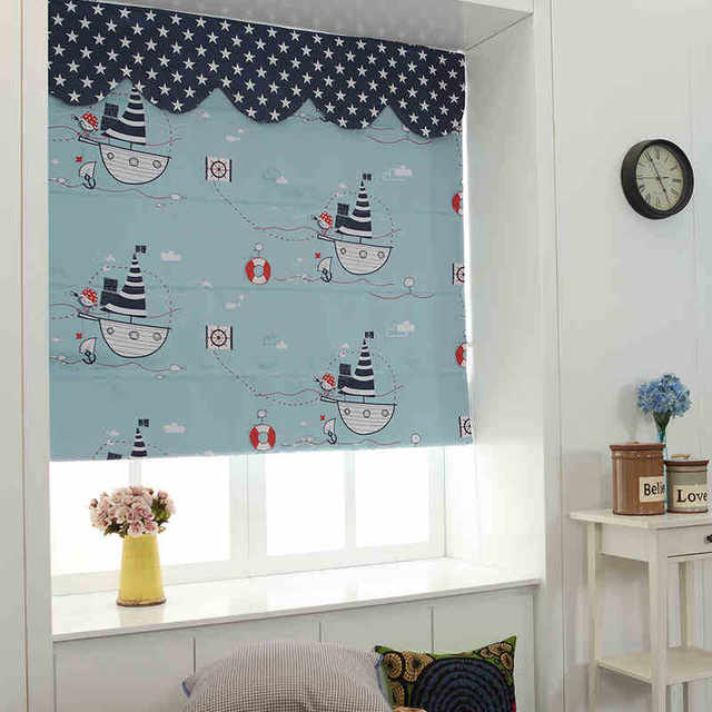 Great Free Shipping New Arrival Cartoon Roman Blinds For Childrenu0027s Bedding Room  Ready Made Pirate Curtains Blackout