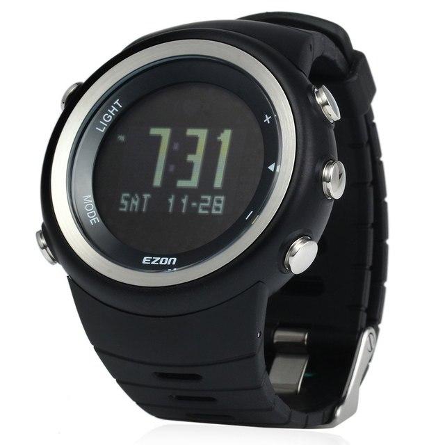 09ef9fb2a4ac EZON T023 Hombres Reloj Podómetro Monitor de la Caloría Running Sports  Digital 50 M Resistente Al