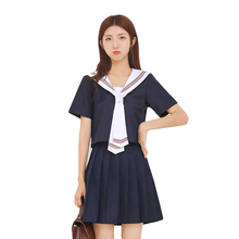 2018 Dark Blue JK School Uniforms Cute Girl Sailor Suit Cosplay Costume Japanese/Korea Student Suits Uniform Cosplay Costume