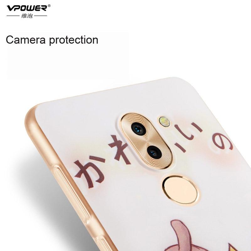 Vpower 3D Relief Soft Case Back Cover- ի համար Huawei Honor 6x - Բջջային հեռախոսի պարագաներ և պահեստամասեր - Լուսանկար 3