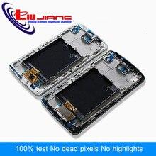 Liujiang calidad Original Pantalla LCD Para LG D850 G3 D855 Digitalizador de la Pantalla Táctil con el Conjunto Del Bastidor