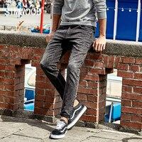 SIMWOOD Hot Sale 2017 Autumn New Jeans Men Slim Trousers Pants Stretch Vintage Plus Size Brand
