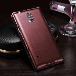 Image 4 - Cassa Del Telefono Del Cuoio Della Copertura di vibrazione Smart View Per Samsung Galaxy S5 SV S 5 G900A G900I G900F G900 G900H G900FD SM G900F SM G900H Caso