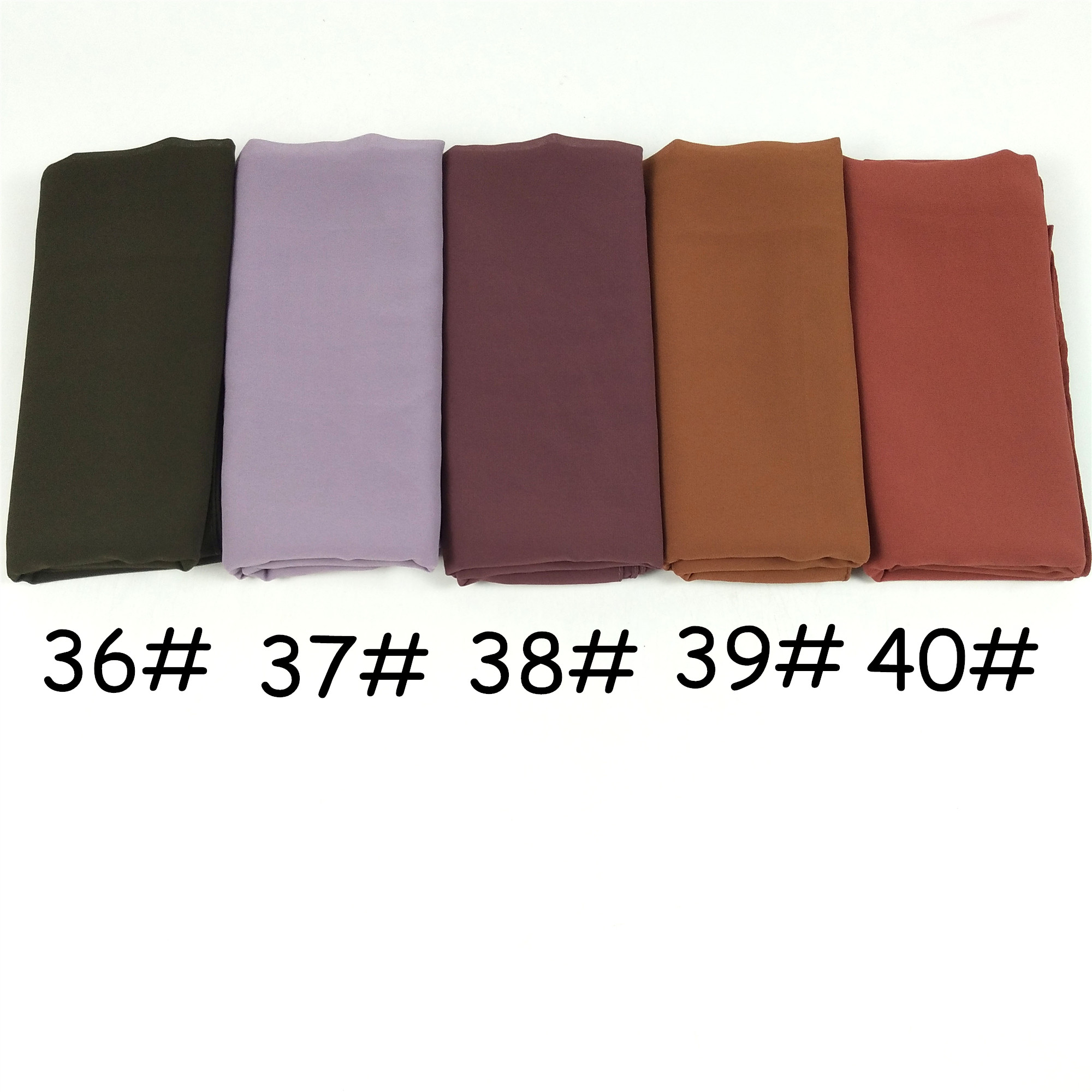 Image 5 - k9 1  Big size women High quality bubble chiffon printe solid color shawls hijab winter muslim  scarves/scarf 180*85cm-in Women's Scarves from Apparel Accessories