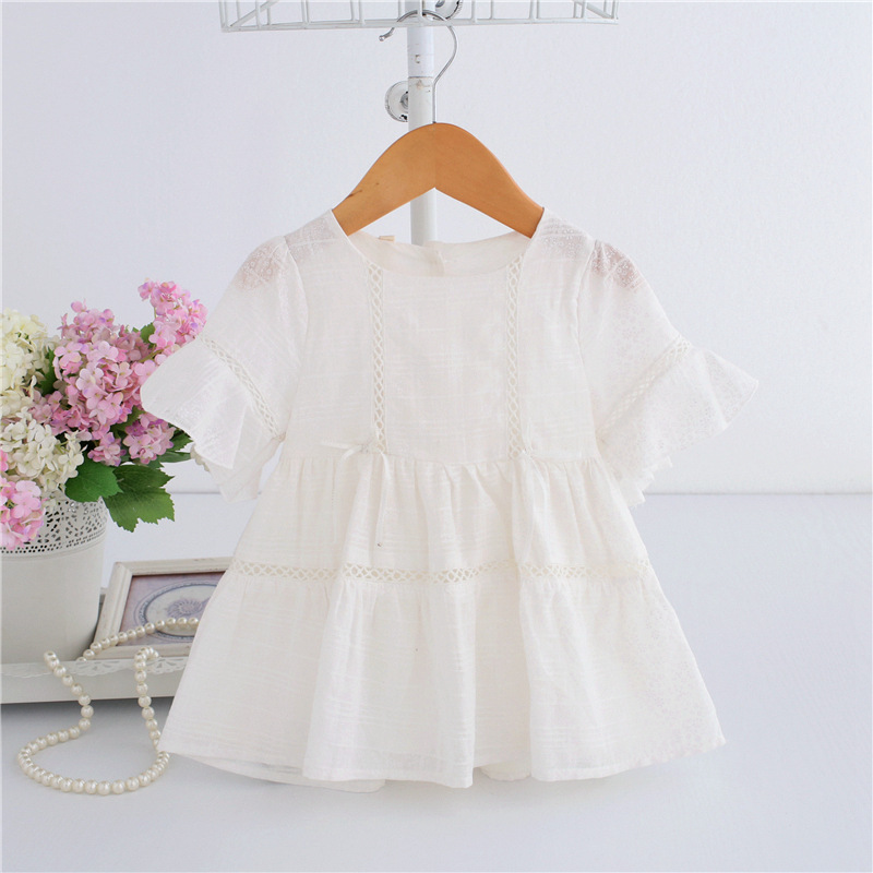 Baby Girl Dress lace infant baptism birthday party Dresses Toddler Girls Clothes purple white 0-2T