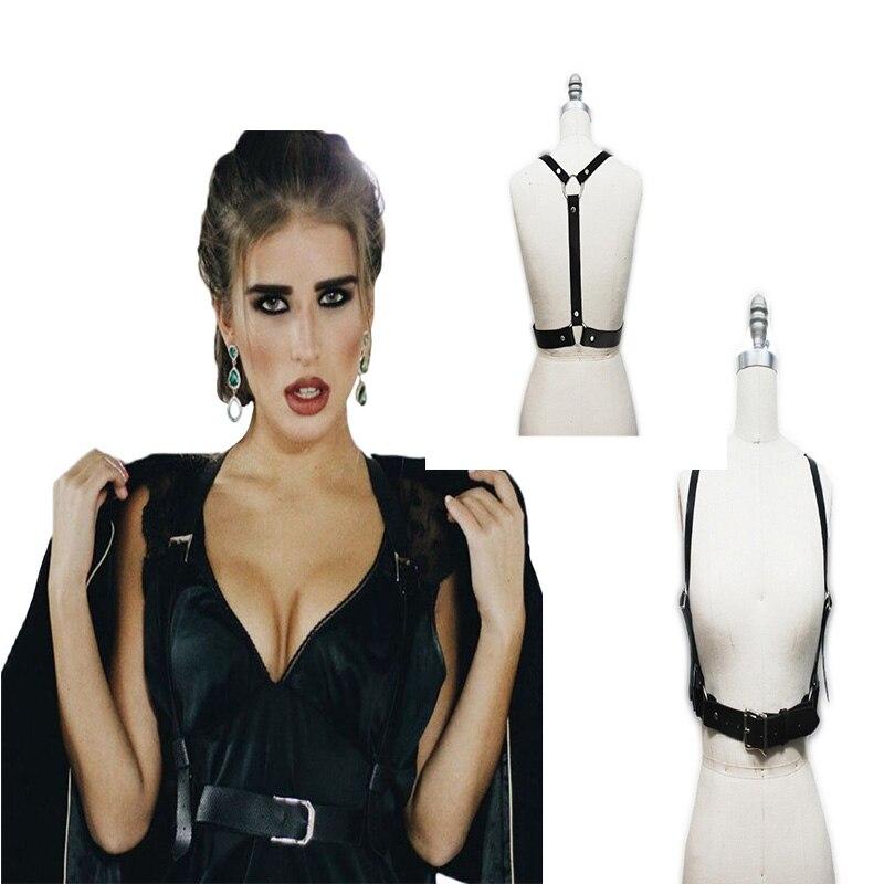 Damen-accessoires Bondage Luxury Harness Mode Punk Neue Sexy Stil Gürtel Von Shoudler Wo Taille Um Taille Straps Kreuz Körper Für Freies Verschiffen 100% Garantie