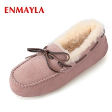 купить ENMAYLA  Round Toe  Slip-On  Ankle  Zapatos De Mujer  Booties  Snow Boots  Winter Shoes Women Size 34-39 ZYL1518 дешево