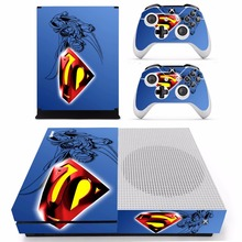 Superman Skin Sticker For Microsoft Xbox One S Console and 2 Controllers For Xbox One S Skins Stickers Vinyl
