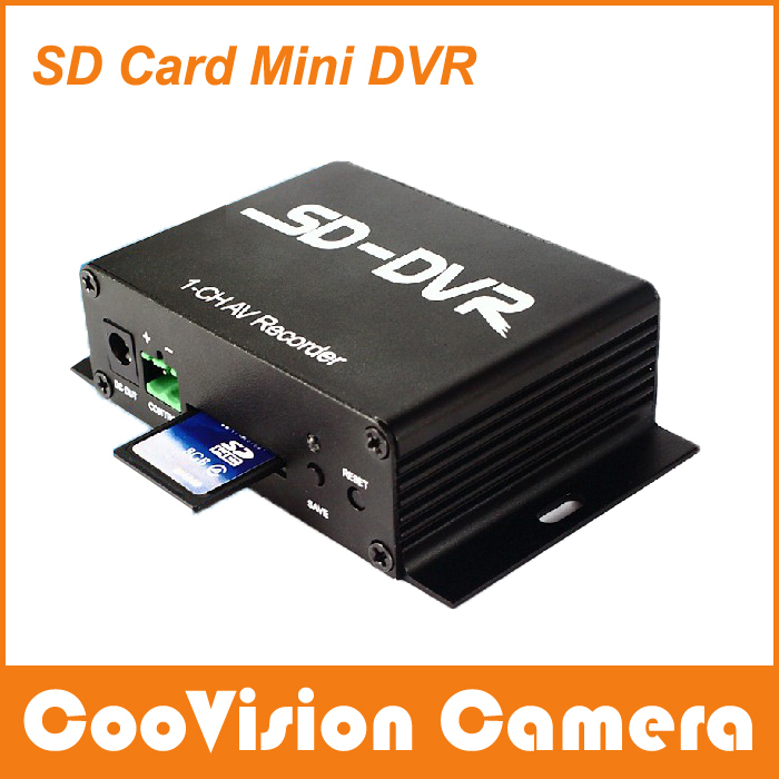 free shipping coovision 1 ch sd card mini cctv dvr