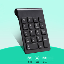 лучшая цена Landas Mini Digital Keyboard Numpad 2.4G Wireless Numeric Keypad For Mac Laptop Notebook Numpad 18 Keys Keyboard For Account