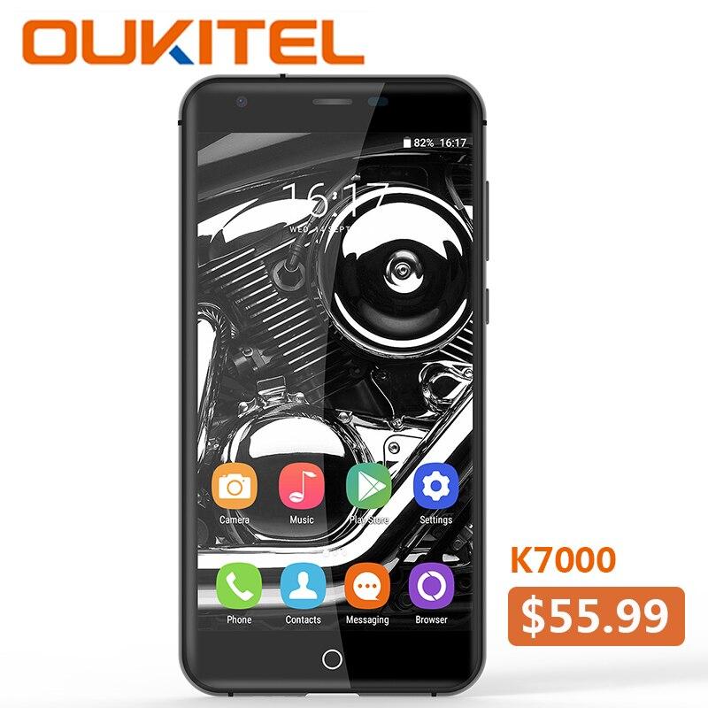 Oukitel K7000 MTK6737 Quad Core Android 6.0 téléphone portable 2G RAM 16G ROM3G déverrouiller Smartphone Original 5 pouces Smartphone