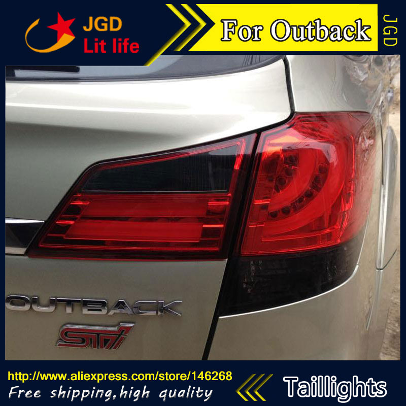 Car Styling tail lights for Subaru Outback 2010-2014 LED Tail Lamp rear trunk lamp cover drl+signal+brake+reverse car styling tail lights for ford ecopsort 2014 2015 led tail lamp rear trunk lamp cover drl signal brake reverse