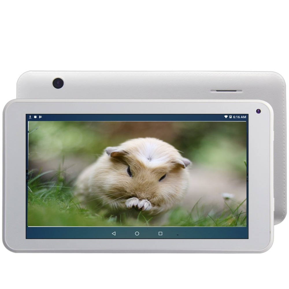 7 pouces Android 6.0 Tablet 1024X600 IPS Affichage 1 GB + 16 GB ROM Cortex A53 Quad Core CPU 1.2 GHz Double Caméra WiFi Bluetooth 4.0