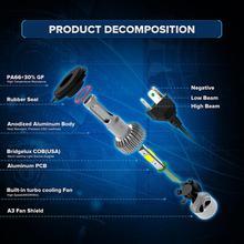 Oslamp H4 H7 H11 H1 H13 H3 9004 9005 9006 9007 9012 COB LED Car Headlight Bulb