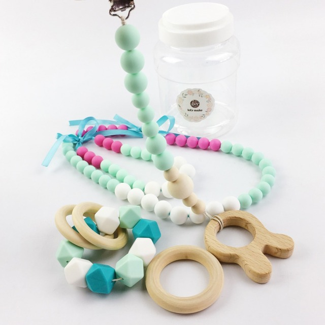 Mamãe bebê Mordedor Mordedor de Silicone Colar Set jóias pulseira colar de enfermagem enfermagem infantil presente das crianças da forma da Mulher