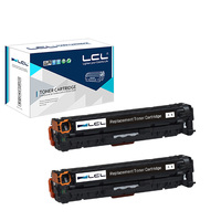 LCL 305X 305 CE410X CE410 410X CE 410 X 2 Pack Compatible Toner Cartridge For HP