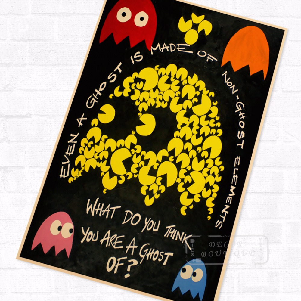 Pacman 8 Bit Character Vintage Video Games Propaganda Poster Retro ...