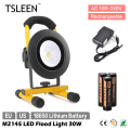 TSLEEN 30W IP65 Waterproof LED Flood Light 18650 Cell Spot Lamp Camping Hiking Inspect Torch+SOS Free Shipping