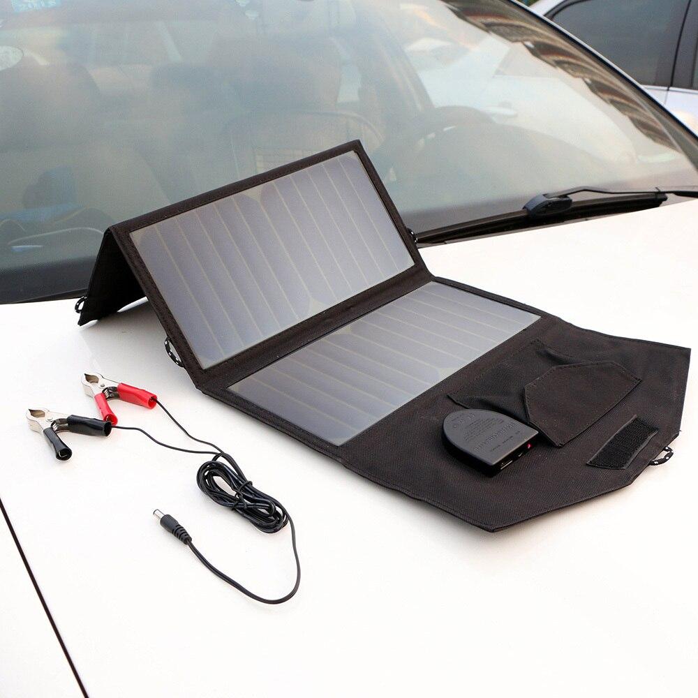 Baterias Solares solar dobrável portable saída dupla Modelo Número : Ap-sp18v21w