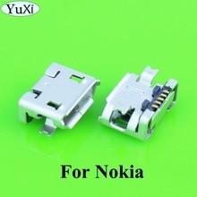 يوشى 5 قطعة/الوحدة لنوكيا N85 N86 N95 E66 C5 00 C2 E603 E610 E52 USB ميناء الشحن موصل التوصيل مقبس متفرع حوض إصلاح جزء