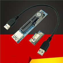 Card PCI Express Adapter Pci-E sata Usb-3.0 on Add X1-To-X4-Slot