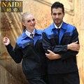 2015 trajes de primavera y otoño de Lona de soldadura eléctrica empresa de limpieza de ropa de trabajo uniformes de Trabajo de manga Larga traje de envío libre