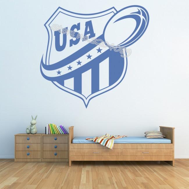 VARSITY Football SPORTS Personalized Name Teen Bedroom Vinyl Wall Decal Art