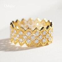 Cmajor стерлингового серебра 925 кружева камень циркон древних Элегантные кольца для женщин