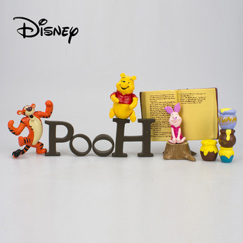 Disney Action Figure Cartoon Character Ornaments Creative Toy Winnie The Pooh Tigger Piggy Toy Set Model Birthday Gifts