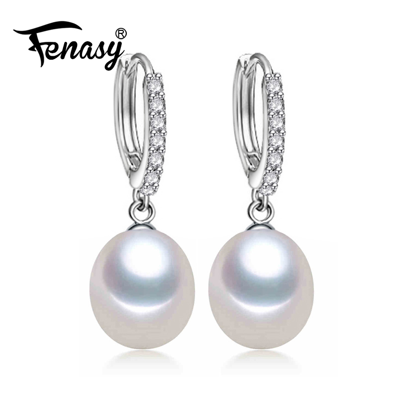 FENASY Pearl Jewelry earrings, natural Pearl with The circular earrings, gift for Women fashion earrings high quality with boxFENASY Pearl Jewelry earrings, natural Pearl with The circular earrings, gift for Women fashion earrings high quality with box