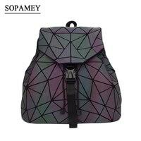 Bao Women Backpack Luminous Drawstring Female Daily Backpack Geometry Backpacks Folding School Bags For Teenage Girls