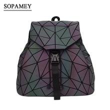 7cfb2d457c3da Bao Women Backpack Luminous Drawstring Female Daily Backpack Geometry  Backpacks Folding School Bags For Teenage Girls