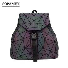 Bao Women Backpack Luminous Drawstring Female Daily Backpack Geometry  Backpacks Folding School Bags For Teenage Girls fadaab5103695