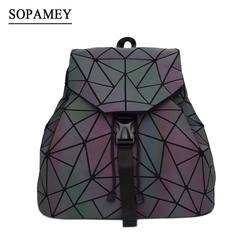 Bao женский рюкзак светящийся шнурок женский ежедневный рюкзак Геометрия рюкзаки складные школьные сумки для девочек-подростков Mochila
