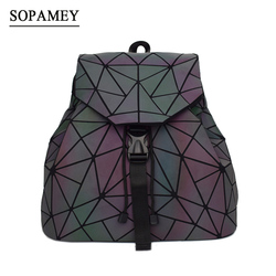 BaoBao Women Backpack Luminous Female Daily Backpack Geometry Backpacks Folding Bags Small School Bags For Teenage Girls Mochila