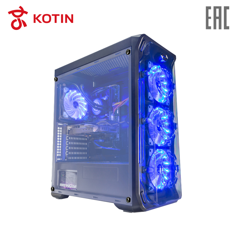 Gaming Desktop KOTIN GBW-1 / i7-8700 / 16G / 240G SSD+2T / GTX1060-6G / Water Cooling / Dos getworth r31 liquid cooling computer intel i7 desktop i7 8700k 8g ram gtx1060 wd 240g ssd win10 home 6 led fans water cooling pc