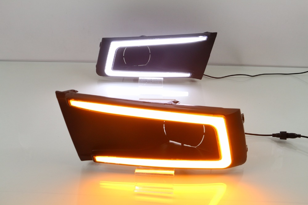 Osmrk светодиодные DRL фары дневного света с желтый сигнал поворота, беспроводной переключатель для Сузуки Витара на 2015-17