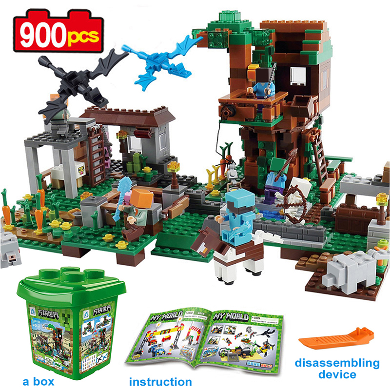 900pcs Minecrafted The Molcard Village Building Blocks Toys