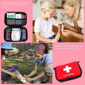 Image 4 - 11 รายการ/28pcs แบบพกพาชุดปฐมพยาบาลกลางแจ้ง Camping Emergency Medical BAG ผ้าพันแผล Band Aid Survival ชุด self Defense