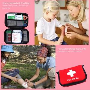 Image 4 - 11 פריטים/28pcs נייד נסיעות חיצונית קמפינג חירום רפואי תיק תחבושת להקת סיוע הישרדות ערכות הגנה עצמית