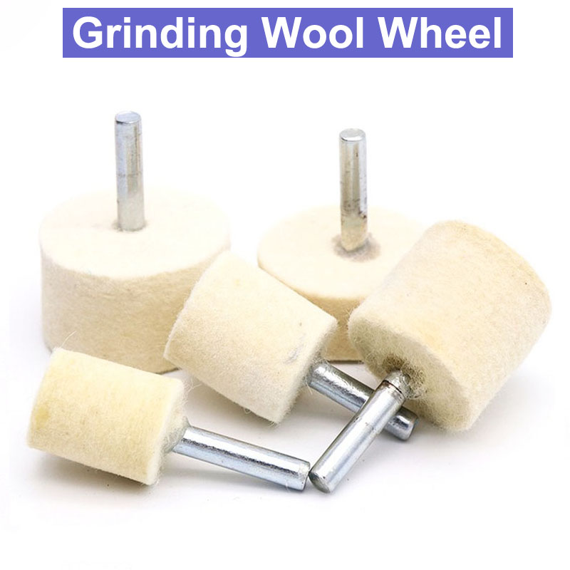 1pc 20mm/30mm/35mm/40mm Wool Felt Polishing Buffing Wheel Grinding Head Metals Rotary Tools Wheels Tool Drill Electric Grinder