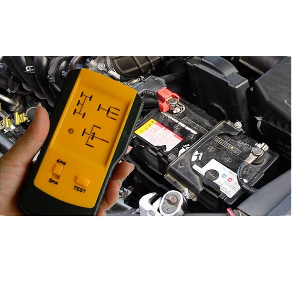 السيارات أداة تشخيص فاحص AE100 اختبار ل 12 فولت التتابع السيارات ، اختبار يستخدم 12 فولت الطاقة من بطارية السيارة. لا بطاريات