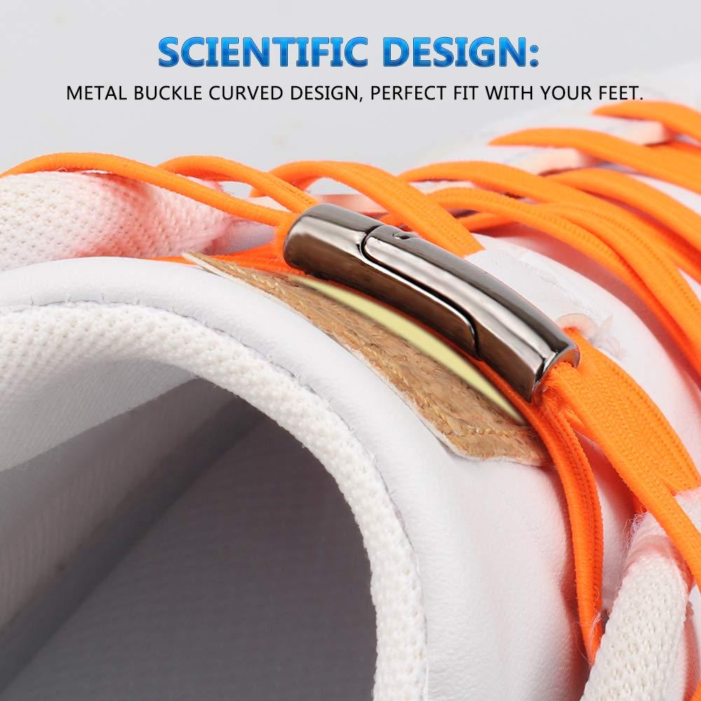 1Pair Fashion Magnetic Shoelaces Elastic No Tie Shoe Laces Kids Adult Unisex Flat Sneakers Shoelace Quick Lazy Laces Strings 2