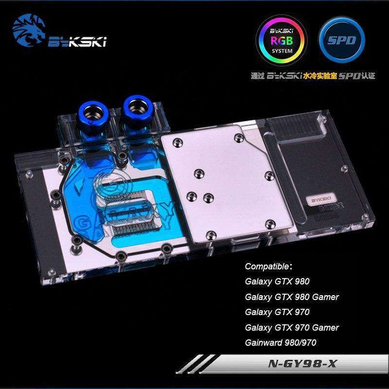 Geuine Bykski watercooling bloc gpu pour galaxy gtx 980/gtx 980 gamer/gtx 970/gtx 970 gamer bloc RGB/RBW gpu cooler N-GY98-X